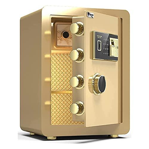 Massage-AED Caja Fuerte con Cierre Electrónico Caja De Seguridad Electrónica De Acero Armario De Archivo De Oficina En Casa Antirrobo 6 Formas De Desbloquear