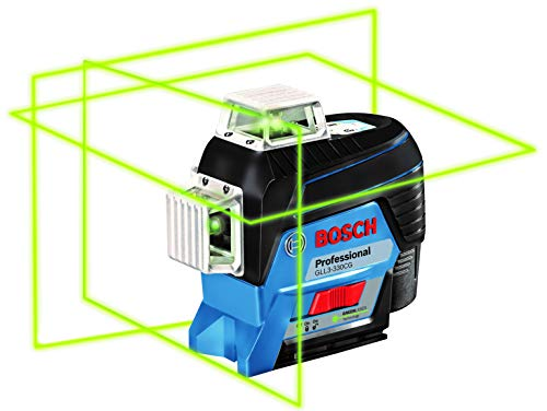 Bosch GLL3-330CG 360-Degree Green Beam Three-Plane Leveling and...