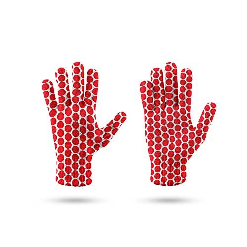BUXIANGGAN Guantes Gloves Patrón De Rayas 3D Guantes De Trabajo Guantes De Jardín Manoplas De Pantalla Táctil para Teléfono Móvil Guantes De Punto para Adultos Talla Única Estilo8