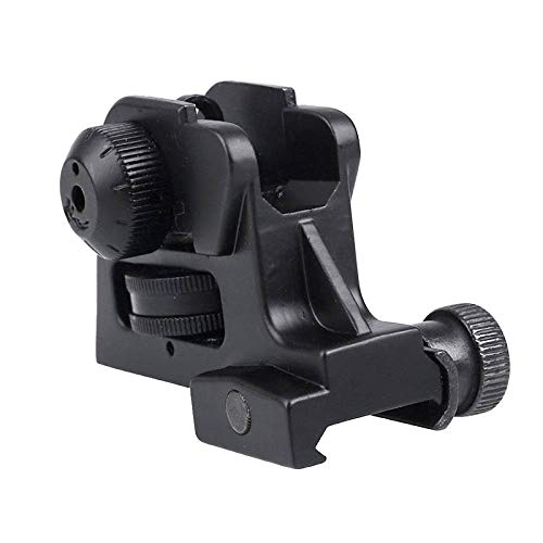 Find Bargain Hygoo Rear Iron Sight with Fixed Picatinny Rail Mount and Windage/Elevation Adjustment