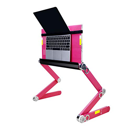 Recliner Desktop Laptop Holder Foldable Aluminum Alloy Laptop Stand Ventilated Adjustable Height Angle Compatible with 11'' -15.6'' Tablets MacBook Notebook