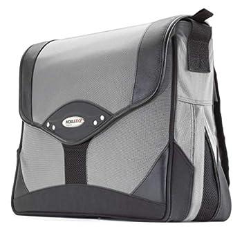 Mobile Edge Premium Messenger Bag- 15.4-Inch PC/17-Inch MacBook Pro  Black/Silver