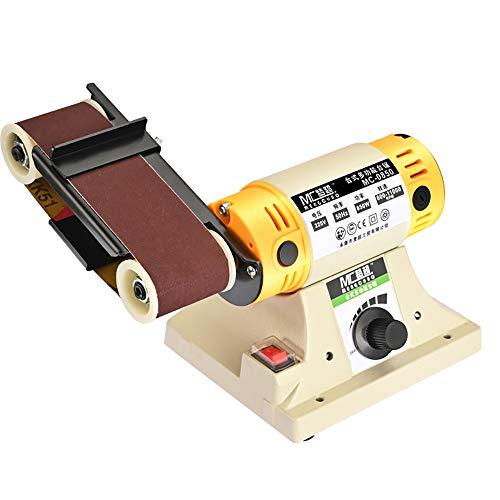 220V Mini Belt Machine Desktop Abrasive Belt Grinding Machine DIY Electric Blade Sharpener Belt Sander 850W 800-11000RPM