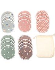 DOITOOL 1 Set Make-up Remover Pads, 100% Microfiber Softeye Wash Pads- Herbruikbare Poeder Make-up Verwijdering Pads Met Opbergtas (20 stuks)