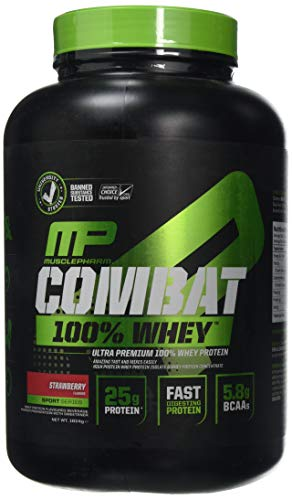 MusclePharm Combat 100 Percent Whey Supplement, 1.8 kg, Strawberry