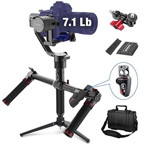 MOZA estabilizador de cardán de Aire para cámara réflex Digital y sin Espejo, con Control de Pulgar Moza y Mango Doble, Control de micrófono de Ajuste automático