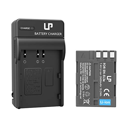 EN-EL3e Battery Charger Pack, LP Replacement for Nikon EN EL3e, EL3, EL3a, MH-18, MH-18a, MH-19, Compatible with Nikon D700, D300s, D300, D200, D100, D90, D80, D70s, D70, D50, MB-D200, MB-D10 & More