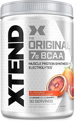XTEND Original - BCAA-Pulver - Italienische Blutorange | Ergänzungsmittel mit verzweigtkettigen Aminosäuren | 7 g BCAA + Muskelproteinsynthese Elektrolyte für Regeneration & Hydration | 30 Portionen