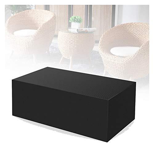 ASPZQ Cubierta de Banco Al Aire Libre, 210D Tela Oxford Impermeable Cubiertas para Muebles Jardín Protector Muebles con Cordón, 31 Tamaño (Color : Negro, Size : 120×120×75cm)