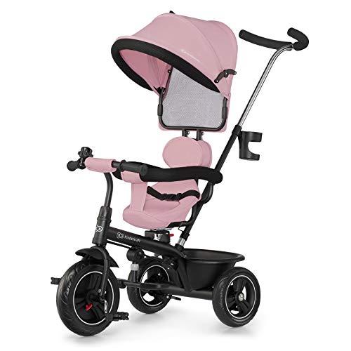 Kinderkraft Triciclo Evolutivo FREEWAY, Carrito, Asiento es Giratorio 360, Rosa