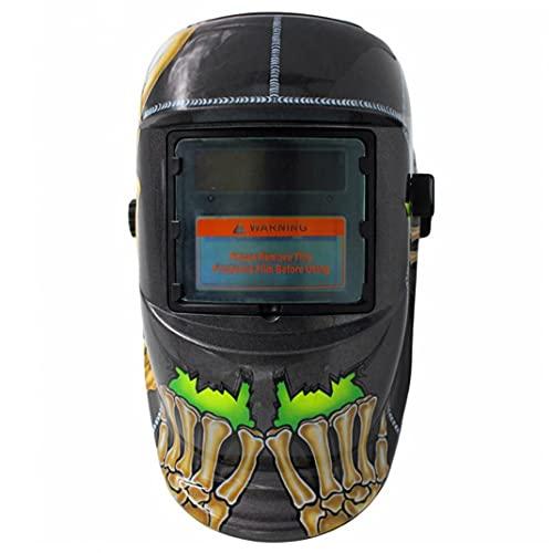 Yililay Casco de Soldadura de oscurecimiento automático accionado Solar de la Capilla Mig TIG Soldador de Arco Protección para los Ojos de la Cara de Seguridad Accesorios Engranaje de Uso Duradero