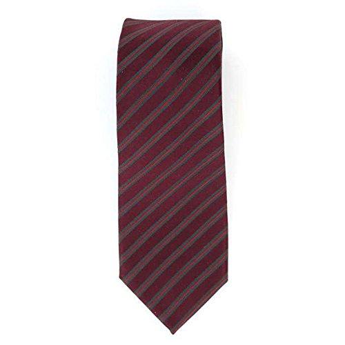 Cotton Park - Cravate 100% soie rouge et bordeaux - Homme