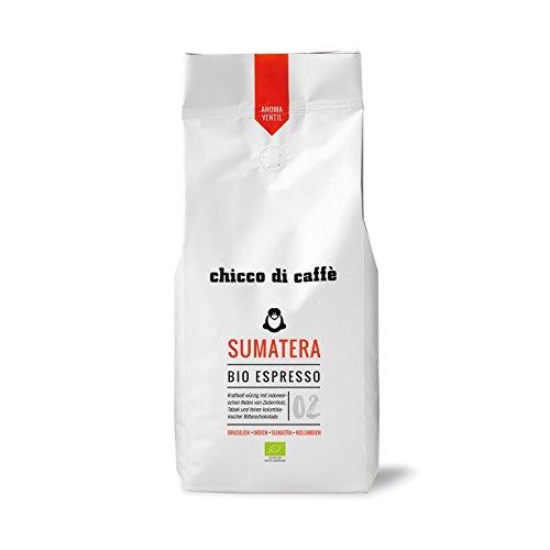 chicco di caffè | Bio-Espresso Sumatera | geröstete, ganze Kaffeebohnen | 80% Arabica - 20% Robusta | aus biologischem Anbau
