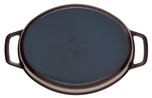 staubストウブ「ピコココットオーバルブラック27cm」大きい両手鋳物ホーロー鍋IH対応【日本正規販売品】LaCocotteOval40500-271