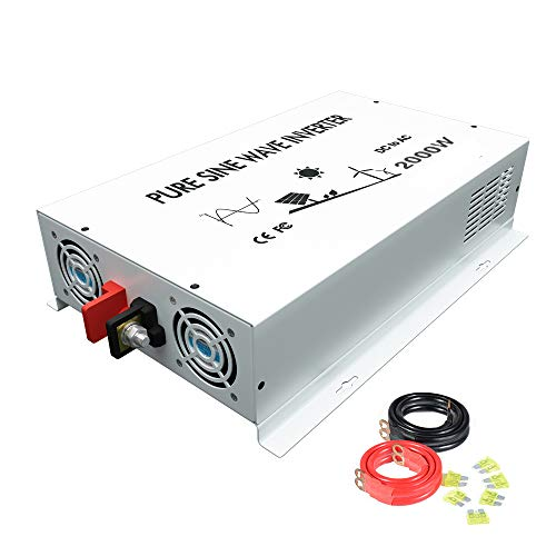 WZRELB 2000W High Frequency Power Generator True Pure Sine Wave Solar Power Inverter Off Grid DC AC 24V 120V Converter