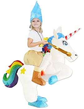 ichwill Kids Inflatable Costume Unicorn Wings Rider Halloween Inflatable Cosplay Party Costumes/Blow up Costumes
