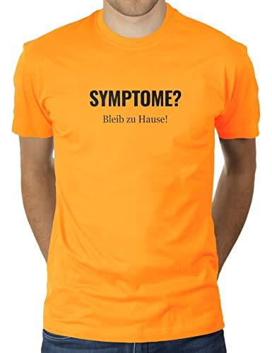 KaterLikoli Coronavirus CoVid-19 SARS-CoV-2 Corona Benimmregeln Social Distancing - Camiseta para hombre oro amarillo S
