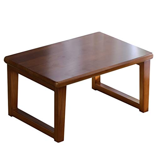 Chi Cheng Fang Electronic business Bay Window Small Table Solid Wood Tatami Coffee Table Simple Low Table Home Balcony Japanese Low Table (Color : Brown, Size : 50 * 40 * 30cm)
