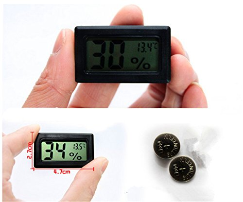 TOPROAD Mini LCD Digital Thermometer Humidity Hygrometer Temperature Meter Monitor Perfect for Home Use