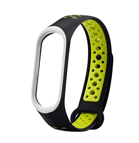 Epaal TPU Silicon Band Strap for Xiaomi Band 3/4, Mi Band 3 / Mi Band 4 (Green-Under)