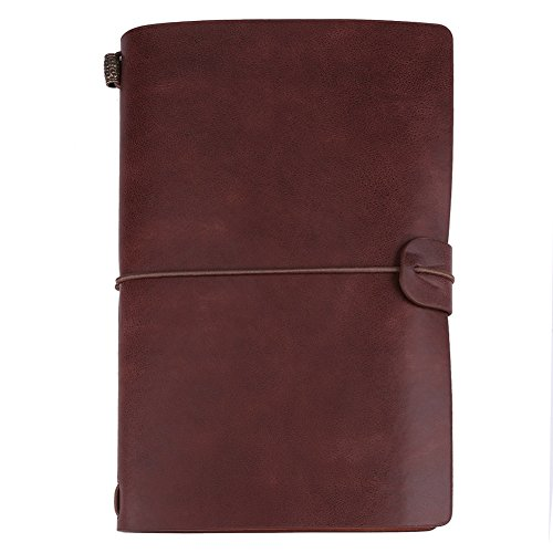 Reisetagebuch Notizbuch, 1 Stück Vintage Retro PU Leder Notizbuch, Personalisiertes Tagebuch Tagebuch Nachfüllbarer Notizblock(Dunkles Ertrinken)