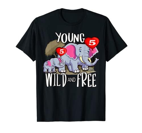 Fiesta de cumpleaños para niñas, cría de elefante, joven Camiseta