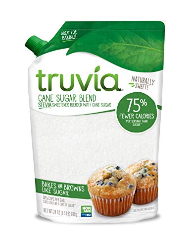 Truvia Cane Sugar Blend, Natural Stevia Sweetener and Cane Sugar, 24 oz