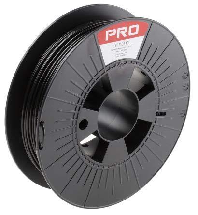 RS PRO 2.85mm Black Nylon PA12 3D Printer Filament, 500g