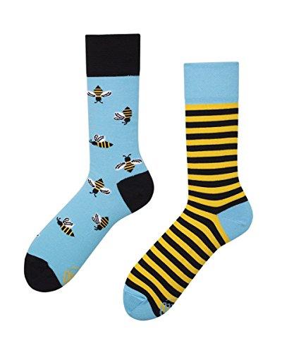 Verrückte Socken MM damen und herren crazy socks BEE BEE Wespe Funny Socks (39-42)