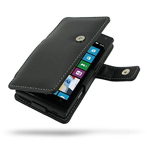 PDair Handarbeit Leder Hülle - Leather Book Case for Huawei Ascend D2