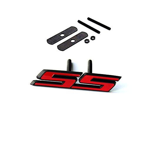 Sanucaraofo 1pc OEM Black Grille Ss Emblem 3D Badge for Camaro Ss Sierra Flat Matte Red
