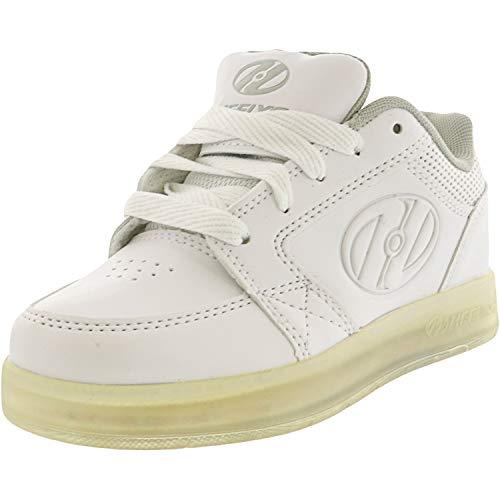 Heelys Unisex-Kids Premium Lo Wheeled Heel Shoe,white,13c M US Little Kid