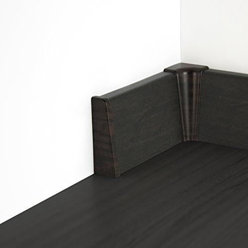 [DQ-PP] 2,5 Meter MDF Sockelleisten Fussleisten Laminat 58x18mm Wenge