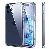 AMZLIFE Silikon Hülle Kompatibel mit iPhone 12 Pro Max (6.7') Handyhülle,Dünn PC Back TPU Rahmen...