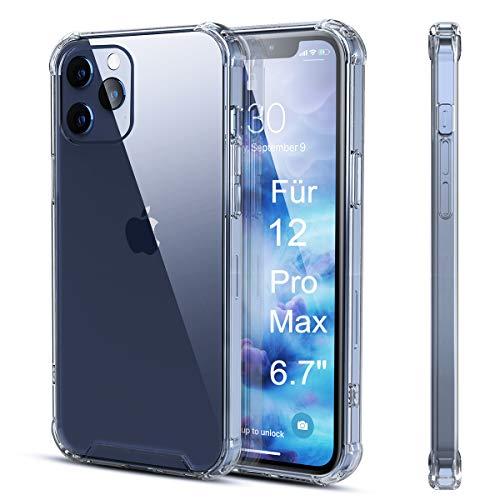 AMZLIFE Silikon Hülle Kompatibel mit iPhone 12 Pro Max (6.7