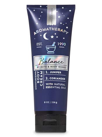Bath & Body Works Aromatherapy Balance Moisturizing Body Cream with Natural Essential Oils Juniper & Coriander 8 oz / 226 g