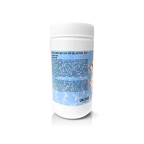EVEN Cloro Tricloro 90% Confezione da 1 kg in Pastiglie da 200 g per Acqua Piscina