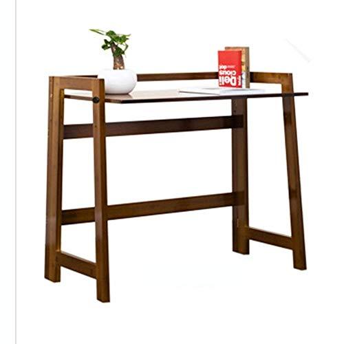 FTFTO Productos para el hogar Escritorio de computadora Escritorio Escritorio Simple Escritorio Simple Mesa Perezosa Mesa pequeña Plegable (marrón) (105 * 43 cm) Escritorios