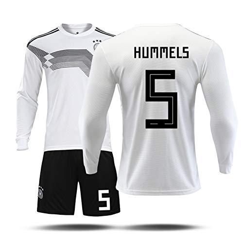 Voetbal jersey trainingspak met lange mouwen Duitsland home #5 sportjack mannen Kids team uniformen outdoor sportkleding 2 stuks 130-3XL