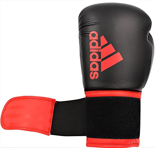 adidas Boxing Gloves - Hybrid 100 - Gloves for Men and Women - Boxing, Kickboxing, Training, Cardio (Black/Red, 12 oz)