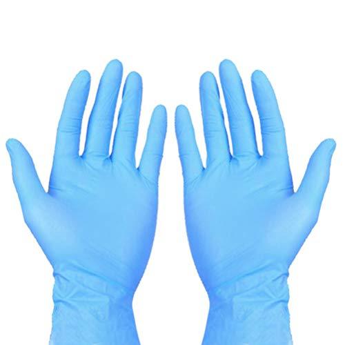 guanti lattice blu Artibetter 50Pz Guanti Monouso Guanti in Nitrile Pulizia Guanti da Lavoro Non in Lattice Protezione Guanti Chirurgici Ospedalieri Taglia XL (Blu)