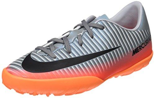 Nike - Junior Mercurialx Victory VI CR7 TF - 852487001 - Farbe: Grau-Orangefarbig - Größe: 36.5