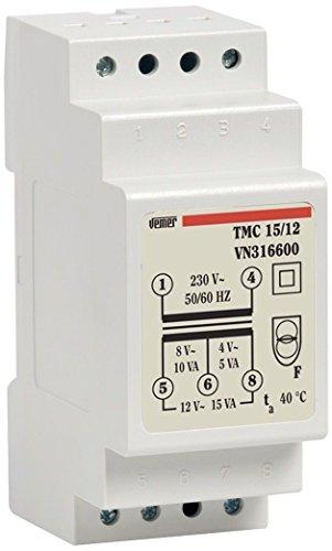 BT8-8 8V 12V 24V Bell Transformateur de sonnette de porte de tension nominale 230//240vac 50//60 Hz transformateur Transformateur de sonnette sonnette