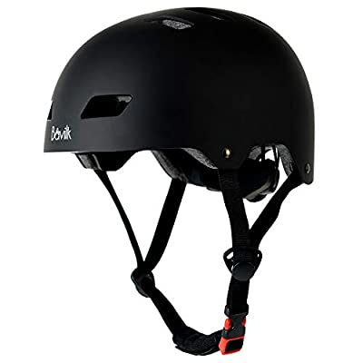 Bavilk Skateboard Bike Helmets CPSC ASTM Certified Multi Sports Scooter Inline Roller Skating 3 Sizes Adjustable for Kids Youth Adults Black M