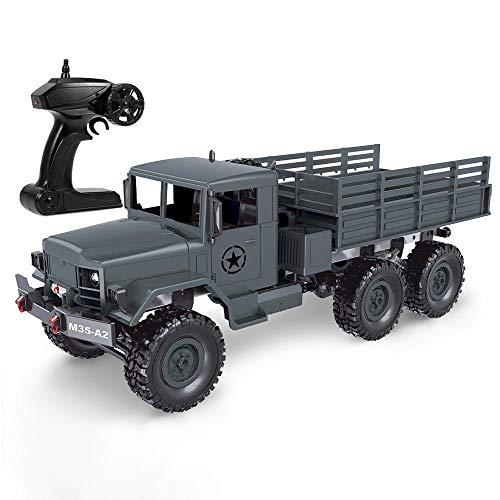 Moerc 1/16 Camión militar 2.4G 6WD Off-Road Truck Simulation RC Transporte militar Vehículo RTR Vehículo eléctrico de alta velocidad LED LED RC Truck RC Juguetes Tiempos de servicio pesado Escalada de