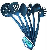 Utensilios de cocina de 6 piezas, resistentes al calor, antiadherentes, lavables en lavavajillas para todas las superficies.