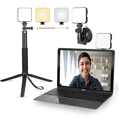 Licht für Videokonferenzen | Videokonferenz-Beleuchtung mit Stativ | Cube Laptop Computer Webcam Licht für Self Broadcast - Zoom Call Meeting - Microsoft Teams - Live-Streaming