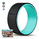 Gonex - Rueda de yoga, 13 pulgadas, rodillo de yoga, pilates para posturas de yoga, estiramiento de espalda con almohadilla externa de 10 mm de grosor