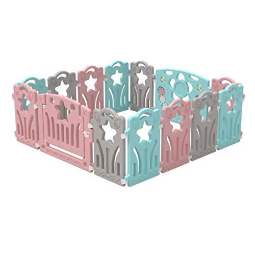 ZXRET Barrière de Jeu pour Enfants Barrière pour Enfants Barrière pour bébés Baby Toddler Safety Fence Crawl