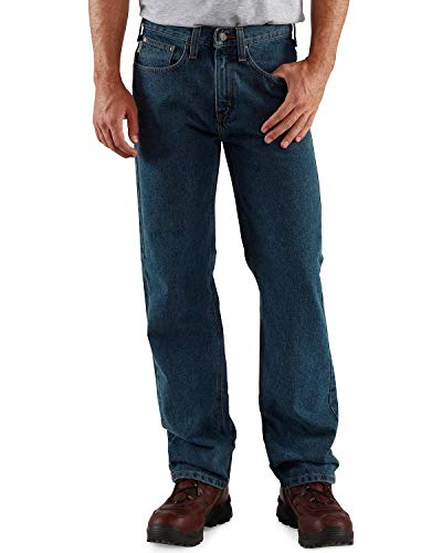 Carhartt Men's Relaxed Straight Denim Five Pocket Jean,Dark Vintage Blue,36 x 34